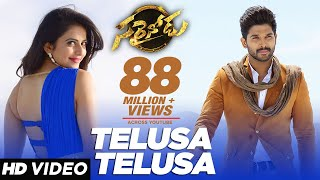 Video Telusa Telusa Video Song | Sarrainodu Video Songs | Allu Arjun,Rakul Preet | SS Thaman |Telugu Songs MP3, 3GP, MP4, WEBM, AVI, FLV Oktober 2018