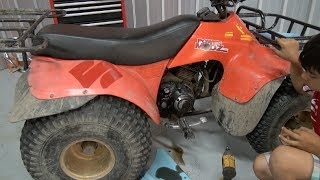 7. Suzuki Quadrunner Oil Filter change! PowerModz!