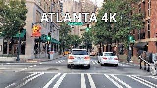 Atlanta (GA) United States  city photo : Driving Downtown - Atlanta's Downtown District - Atlanta Georgia USA
