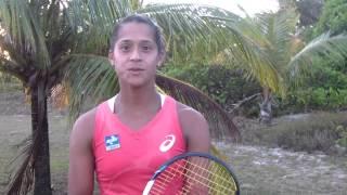 Teliana Pereira na expectativa para jogar novamente o Brasil Tennis Cup