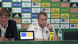 Die Pressekonferenz nach dem Spiel zwischen Rapid und Ried