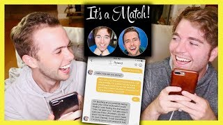 Video READING OUR TINDER CONVERSATION with RYLAND MP3, 3GP, MP4, WEBM, AVI, FLV Oktober 2018