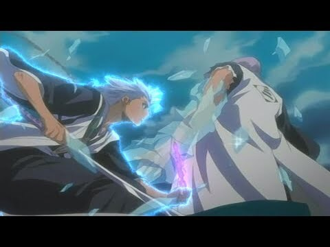 Toshiro Hitsugaya vs  Gin   「1080p」60FPS