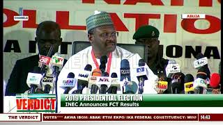 2019 Presidential Election: INEC Announces Results