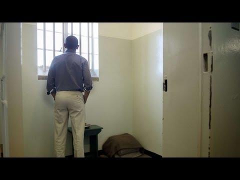 Barack Obama 'humbled' by visit to Nelson Mandela's Robben Island jail