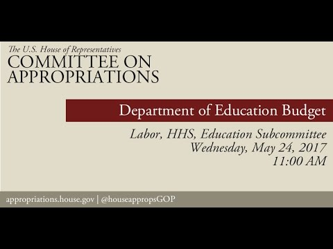Hearing: Department of Education Budget (EventID=106008