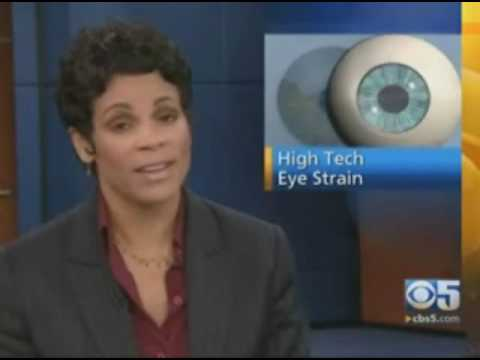 eyestrain - This video from the CBS 5 Affiliate in Southern California talks about Computer Vision syndrome and how to reduce it with computer glasses. Visit http://www....