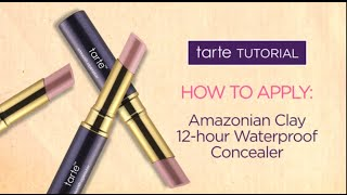 tarte tutorial: how to cover dark circles with our Amazonian clay 12-hour waterproof concealer