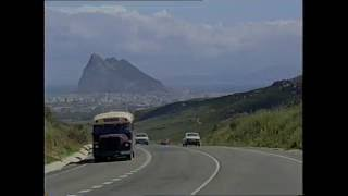The controversial British overseas territory of Gibraltar located on the southern end of the Iberian peninsula. Filmed by Thames ...