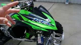 2. 2014 Kawasaki KFX450R Sport Quad  Overview and Review   For Sale $8,299