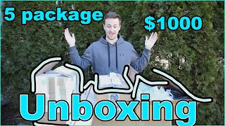 5 Package $1000 Airsoft Unboxing