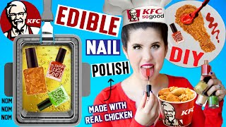 DIY EDIBLE KFC Nail Polish | EAT Fried Chicken Flavored Nail Polish | Made With Real Fried Chicken! by GlitterForever17