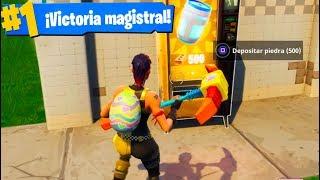 GANANDO SOLO CON MÁQUINAS EXPENDEDORAS! Fortnite: Battle Royale Challenge