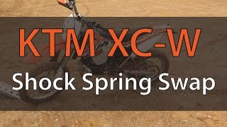 8. Change KTM Rear Shock Spring On 2014 Ktm 300 XC-W | FixYourDirtBike.com