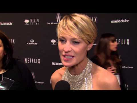 2014 Golden Globes Party: Robin Wright Interivew