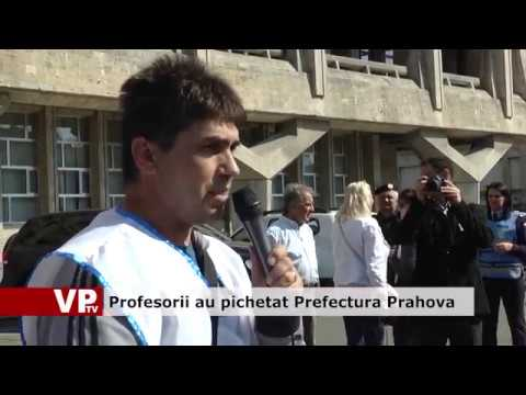 Profesorii au pichetat Prefectura Prahova