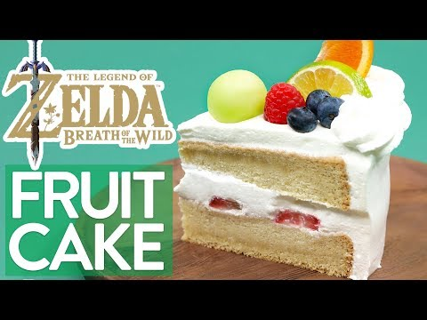 HOW TO MAKE ZELDA FRUITCAKE (Breath of the Wild) - NERDY NUMMIES