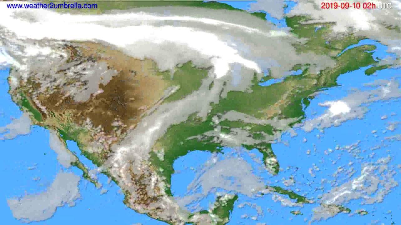 Cloud forecast USA & Canada // modelrun: 12h UTC 2019-09-07