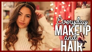 Tutorial: EVERYDAY MAKEUP AND HAIR - High School - YouTube