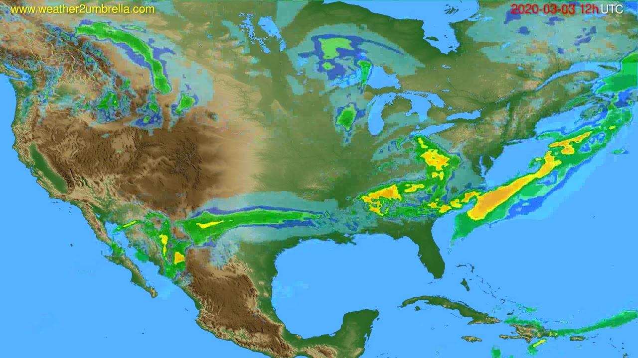Radar forecast USA & Canada // modelrun: 00h UTC 2020-03-03
