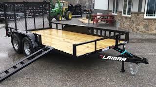8. Lamar UT07 7x14' 7000# Tandem Axle Utility Landscape Trailer Side ATV Ramps Rear Gate UT831623ATV