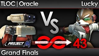 VERY Nice Grand Finals! IaB43 PM – TLOC Oracle (ROB, Charizard) vs Lucky (Fox)