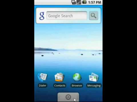 Android 1.5 - Menu główne