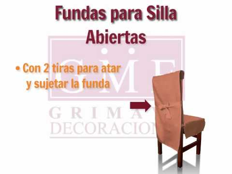 Forros para sillas de comedor videos videos - Forro para sillas de comedor ...