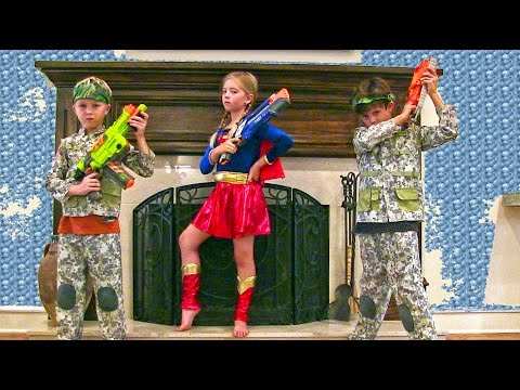 gratis download video - Little-Heroes-11--Kids-Nerf-War-Movie-with-the-Adventure-Kids-and-Supergirl