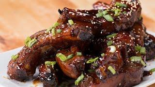 Deep-Fried Sticky Ribs by Tasty
