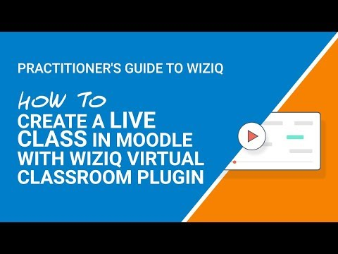 How To Create Live Class Using Moodle