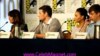 Glee at Comic-2012 panel: Lea Michele chats on fave moments pt. 3/5