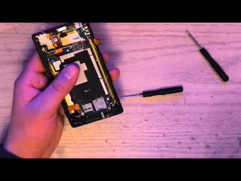 How to Replace Battery For Sony Xperia ZL (видео)