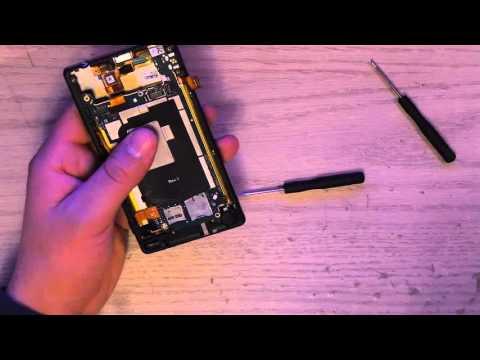 Sony Xperia ZL Replace Battery (видео)