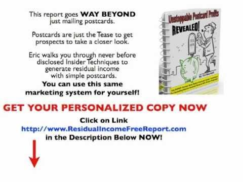 Generate Residual Income | Postcards to create residual income