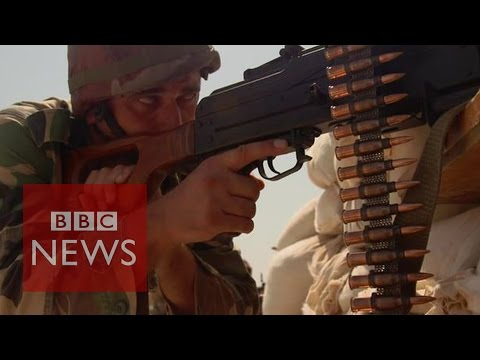 Army - The BBC's Jeremy Bowen has travelled with the Syrian army to the front line where forces are fighting what they call religious extremists. Subscribe to BBC News HERE http://bit.ly/1rbfUog...