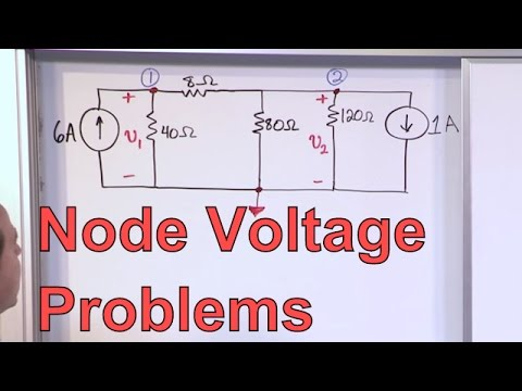 Node Voltage Problems in Circuit Analysis - Electrical Engineering Node Voltage Analysis Problem