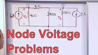 Node Voltage Problems in Circuit Analysis - Electrical Engineering Node Voltage Analysis Problem