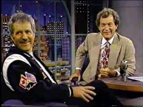 Alex Trebek on Letterman, 1990–95