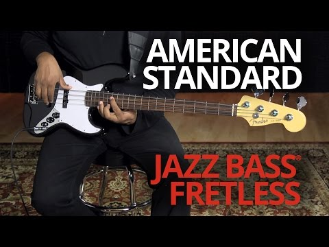 Fender American Standard Jazz Bass RW Fretless 3-color Sunburst