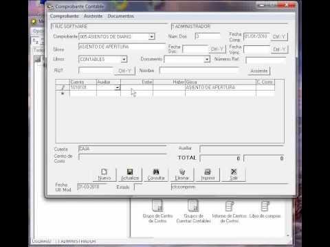 Tutorial contabpro 4 crear asiento de apertura rjc for Asiento apertura