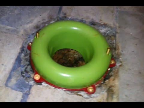 Sani Seal Waxless Toilet Flange Gasket Install