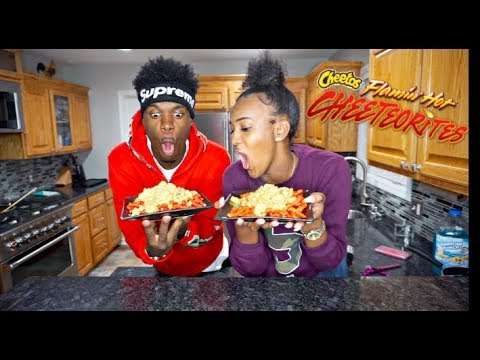 COOKING WITH NIQUE & KING | HOW TO MAKE HOT FLAMING CHEETOS NACHOS!!!