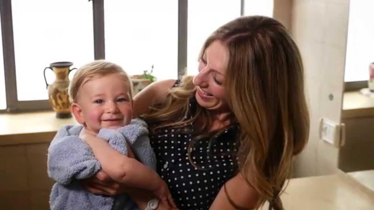 סרט מוצר לתינוקות - אמבטיה עם משקל