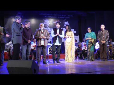 Jitendra,Prem Chopra At Musical Night In The Memory Of Puncham Da & Kishor Kumar