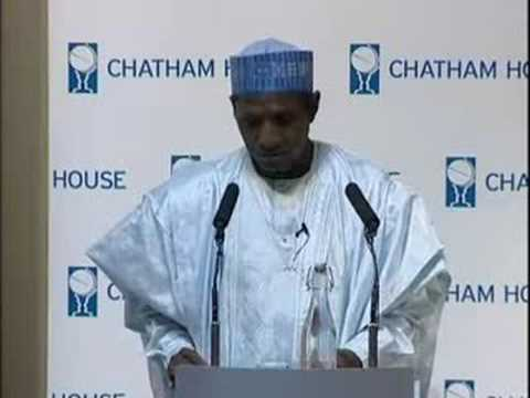 President Umaru Yar'Adua speaks at Chatham House in London