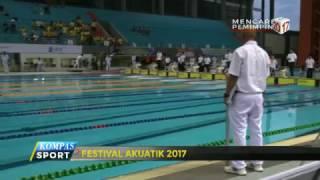 3 rekor nasional pecah di Festival Akuatik 2017. 2 rekor di antaranya berhasil dilewati oleh Anandia Treciel Vannesae di nomor 100 meter dan 50 meter gaya dada.