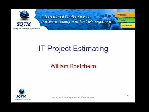 SQTM '14: IT Project Cost Estimating