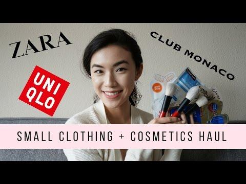 Try On Clothing and Makeup Haul: Zara, Uniqlo, Club Monaco, Sephora and Korean Skincare