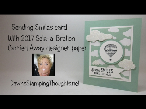 Sending Smiles Card Featuring Stampin'Up! Products (видео)